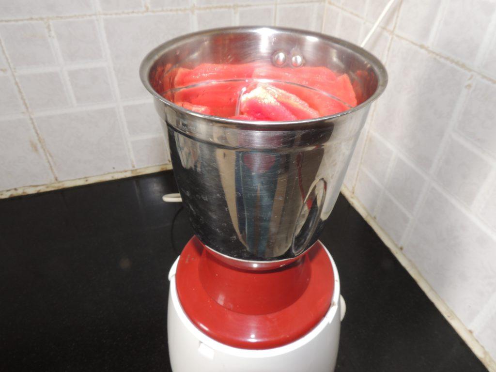 Start mixer grinder and make juice.