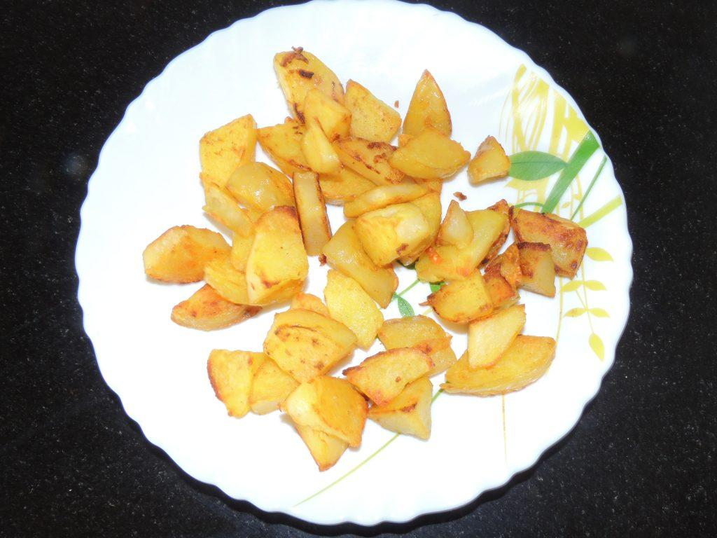 aloo fry with butter