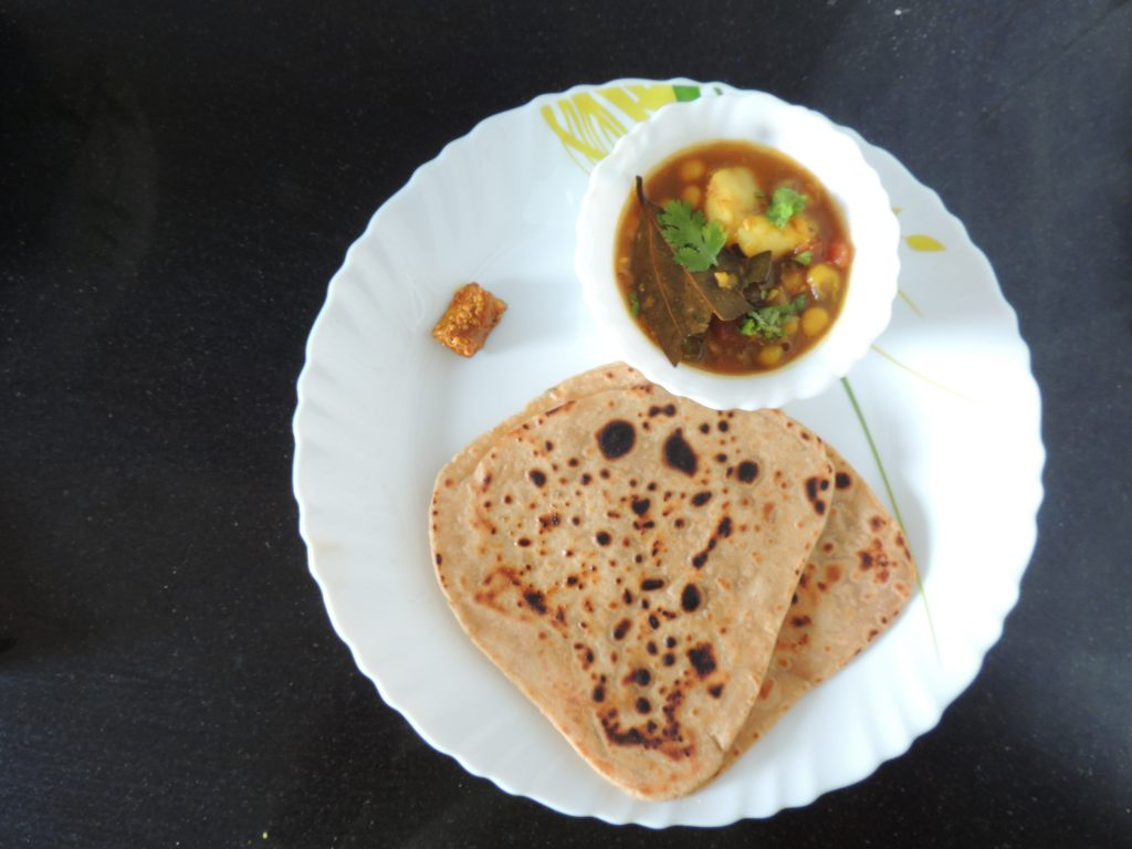 A paratha is a flatbread that originated in the Indian subcontinent prevalent throughout areas of India, Sri Lanka, Pakistan, Nepal and Bangladesh where wheat is the traditional staple.Paratha is an amalgamation of the words parat and atta, which literally means layers of cooked dough.Alternative spellings and names include parantha, parauntha, prontha, parontay (in Punjabi), porota (in Bengali, Malayalam), (palatain, in Burma), porotha (in Assamese), forota (in Sylheti) and farata (in Mauritius, Sri Lanka and the Maldives).
