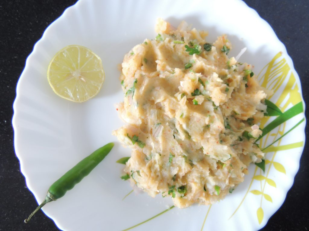 Potato Onion Oil Bharta