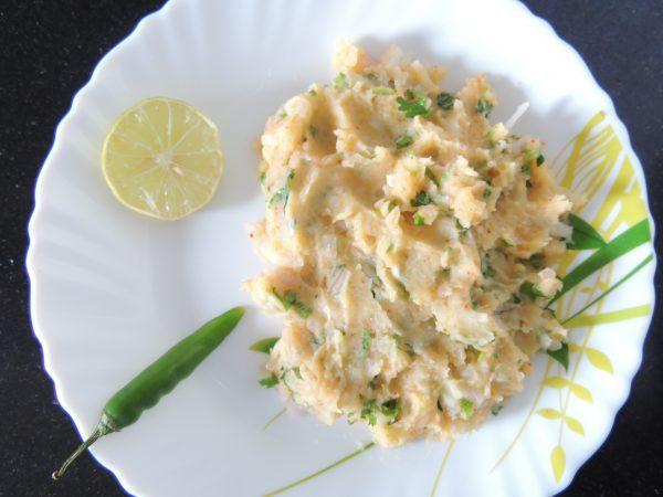 Potato onion mashed