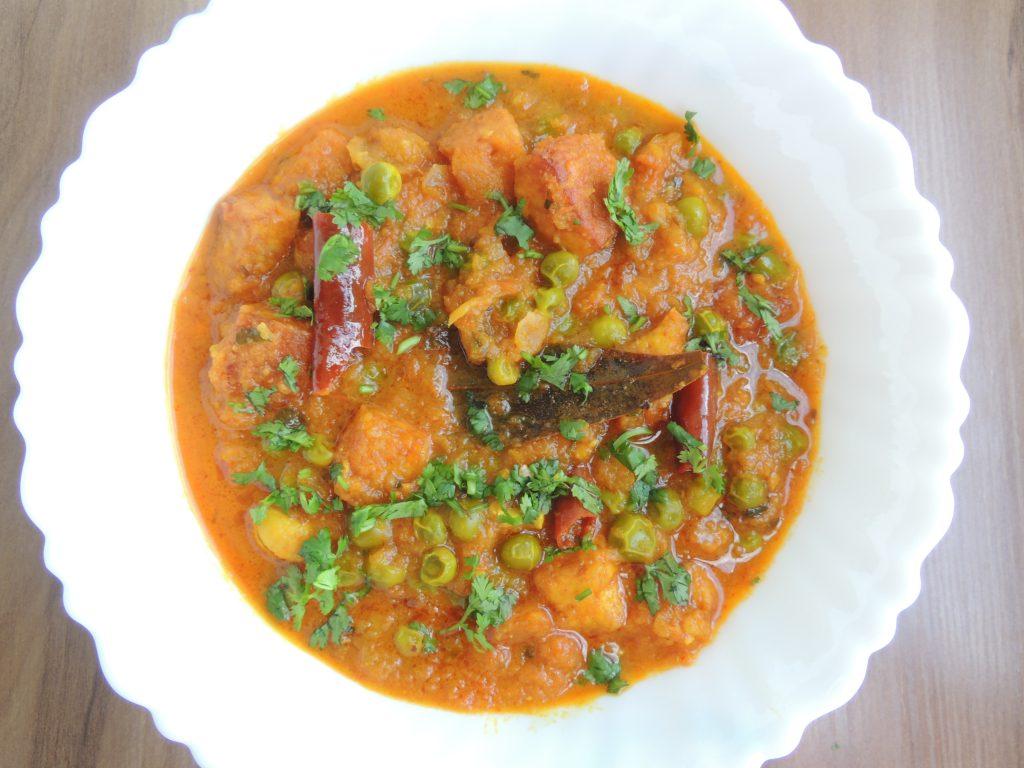Hotel Vali Matar Panner / Cheese Peas Curry