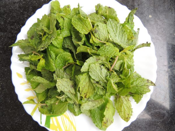 First take 6 tbsp of mint / pudina leaves. Properly clean with water.