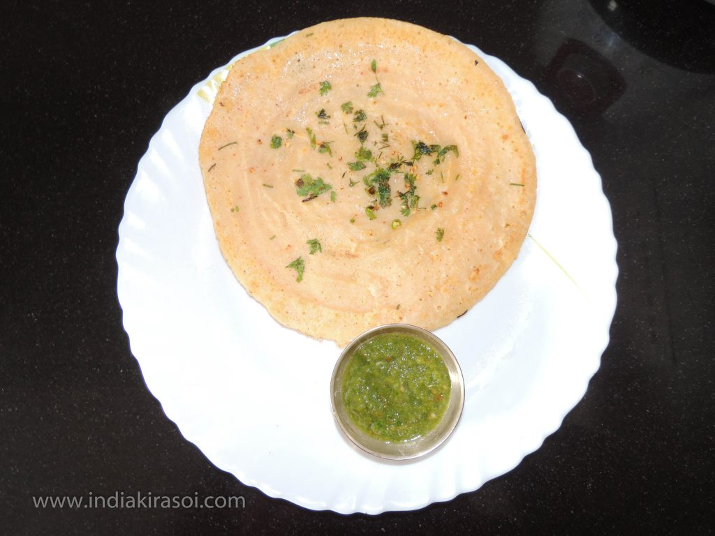 Moong dal chila is ready.
