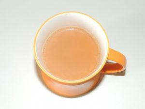 Tea is an aromatic drink frequently prepared by pouring warm or boiling water over healed Camellia sinensis leaves, an evergreen shrub (bush) from East Asia. When the tea is drunk with flavourful ginger, the taste buds are all the more thrilling. Enjoy this tea in winters with your favourite savours, warm and fresh. This ginger tea also acts as a medicine to avoid cold in winter.