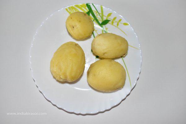 Peel the potato.
