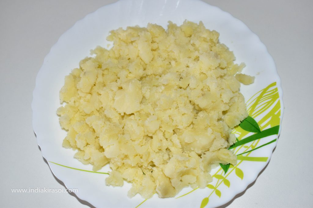 Mash the potatoes.