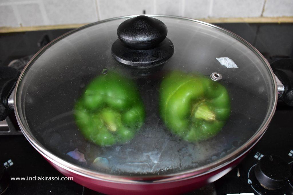 Cover the lid on the kadai / pan.