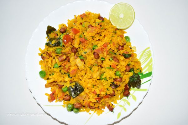 Delicious poha is ready Serve Pohe and Enjoy Poha with Tea