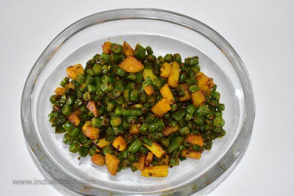 Bean Potato Dry Vegetable