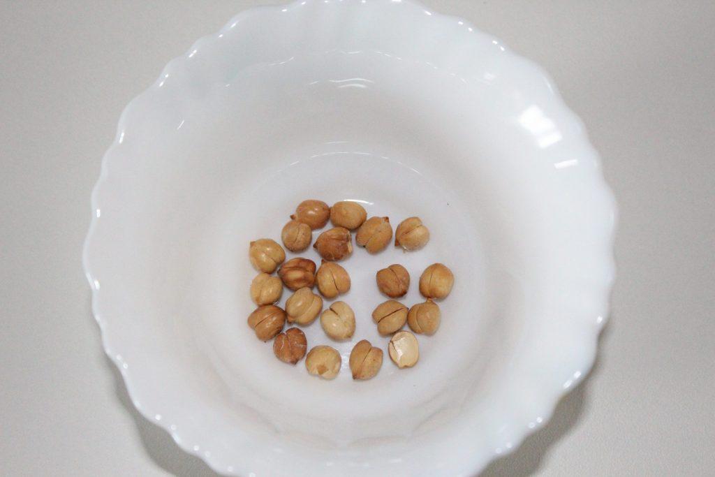 Take 1 teaspoon roasted gram.