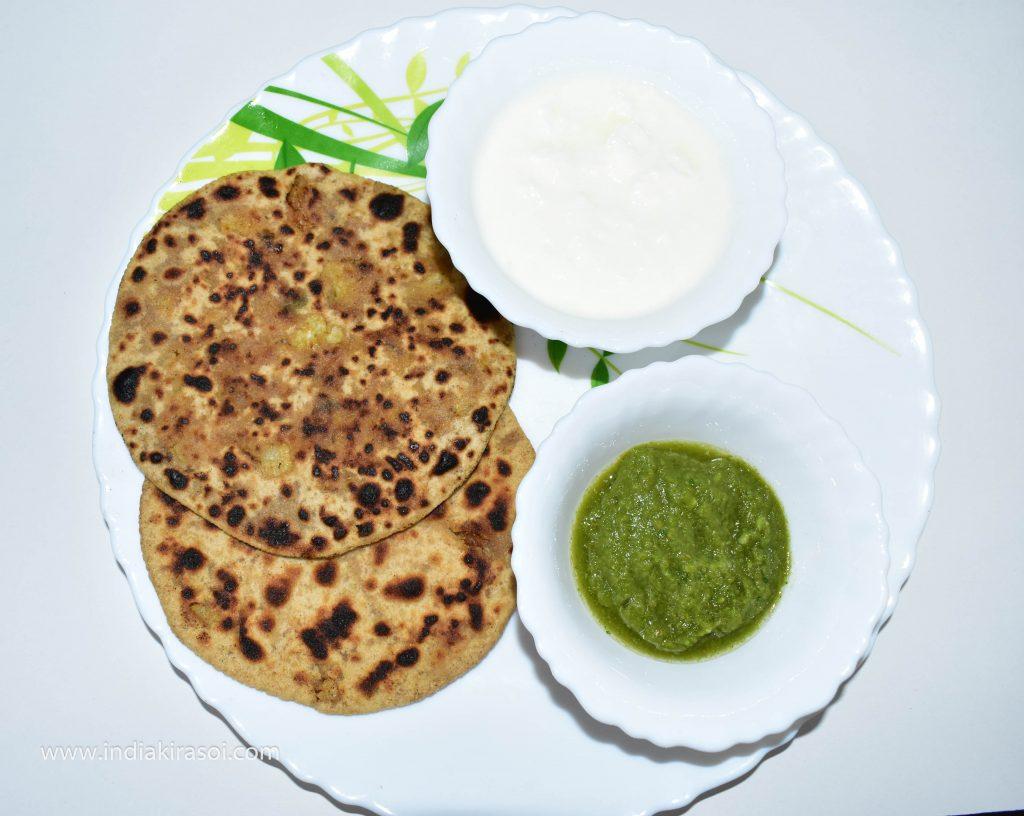 Cauliflower Stuffed Flatbread/ Gobhi Paratha / गोभी पराठा