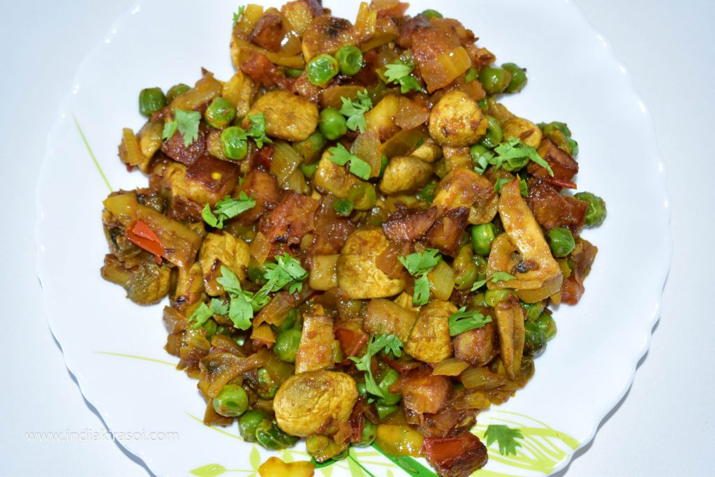 Punjabi Matar Mushroom is ready.
