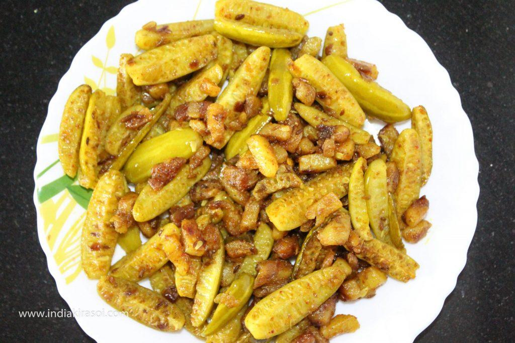 Tasty/yummy vegetable of Kundru potato is ready.
