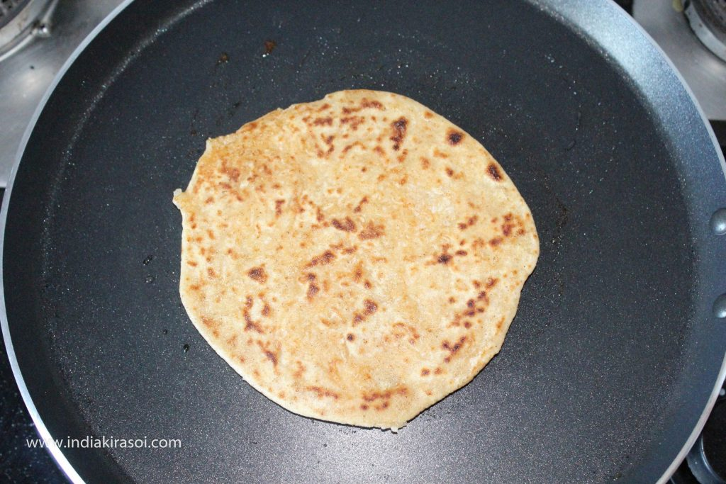 Make remaining parathas with the remaining dough as well.