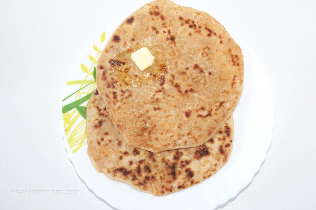 Radish parathas are ready.