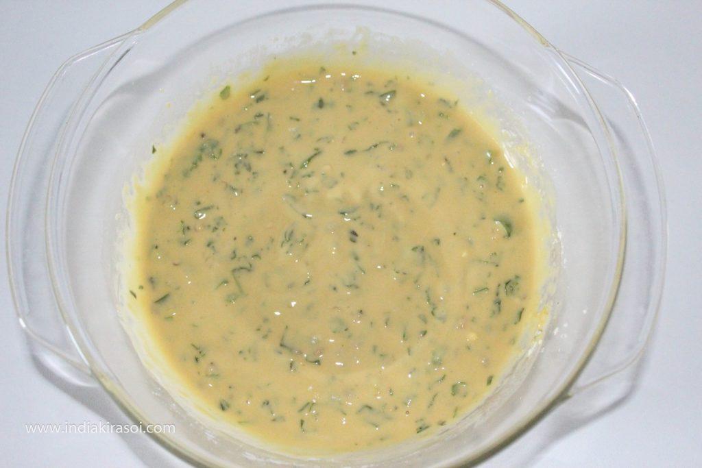 So that when you add pakora's/dumplings to gram flour gravy, the pakora's/dumplings will be very soft to eat.