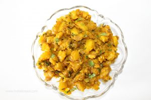Pumpkin Dry Vegetable/ Kaddu Ki Sookhi Sabji