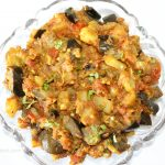 Brinjal potato vegetable is ready.
