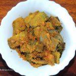 Gram Flour Banana Peel Dry Crispy Recipe/ Besan Kele Ke Chhilke Ki Sookhi Kurkuri Sabji