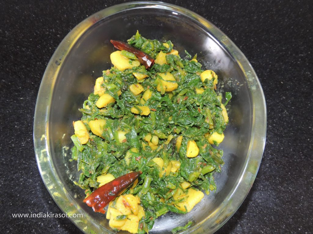 And fry the vegetable for 2 to 3 minutes and add one spoon of desi ghee in the last.