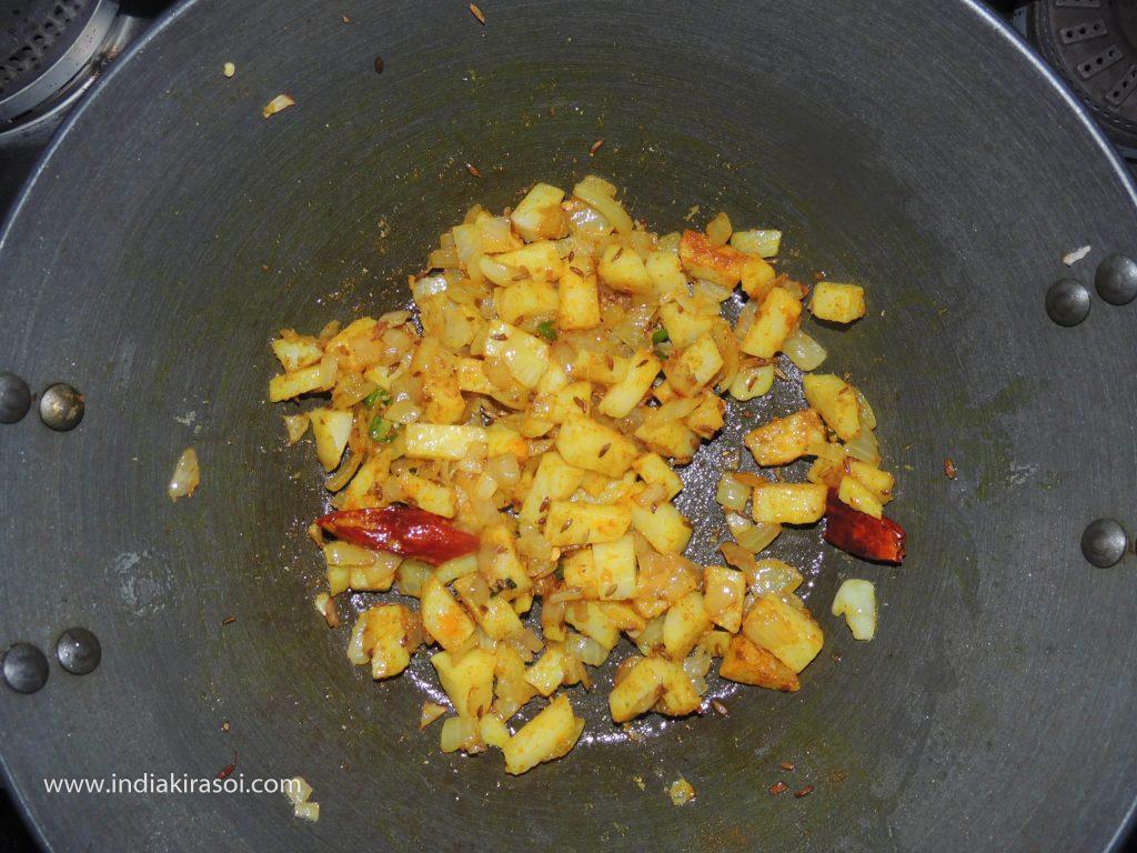 Add half a teaspoon of turmeric powder along with it.