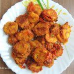 Gram Flour Raw Banana Tomato Dry Recipe/ Besan Kachcha Kela Tamatar Ki Sookhi Sabji