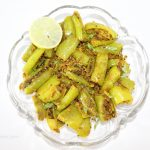 Big Green Chilli Gram Flour Dry Recipe / Besan Hari Mirch Sookhi Sabji