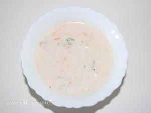 Carrot Radish Raita/ Gazar Mooli Raita