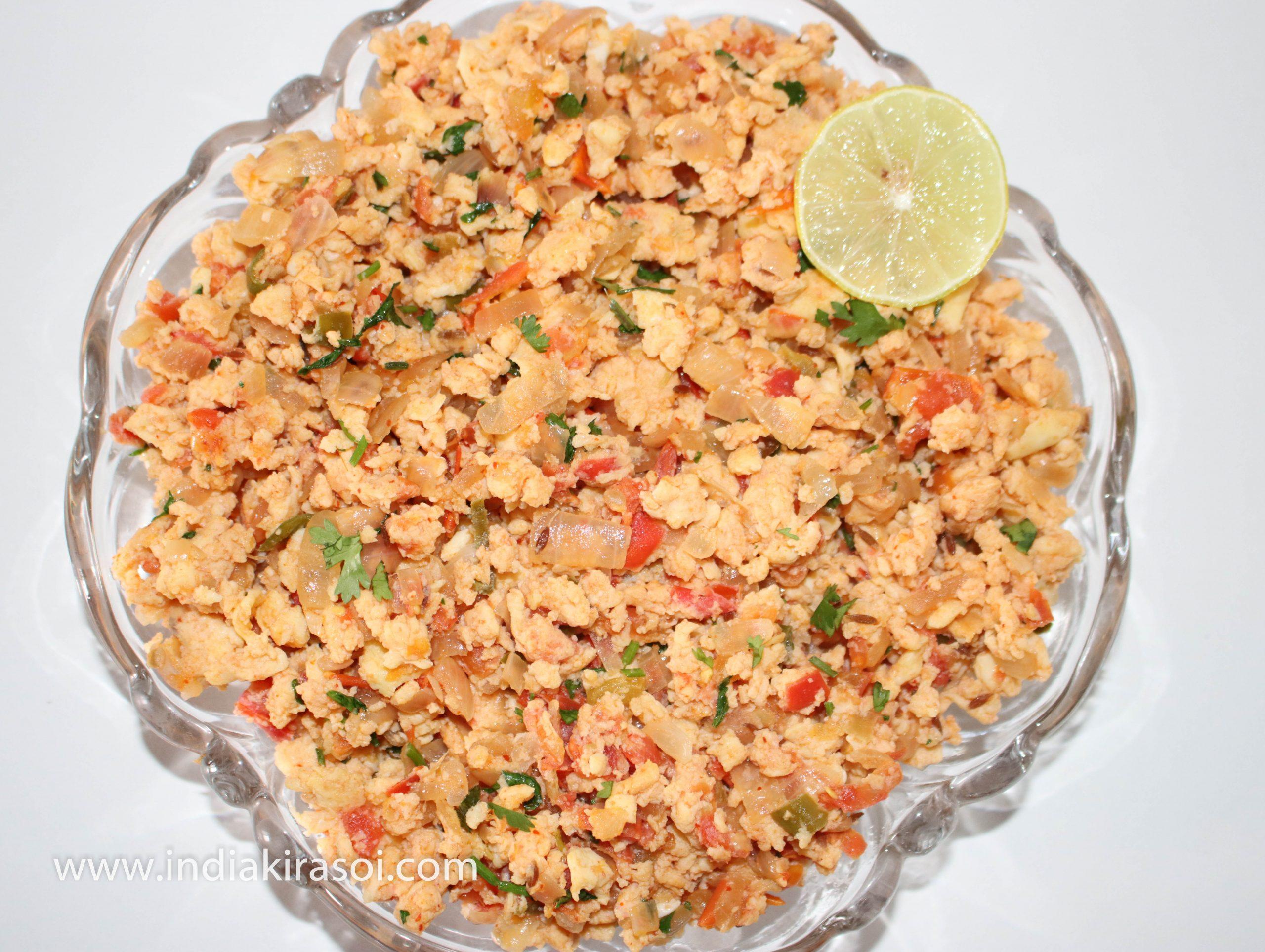 Egg Bhurji/ Anda Bhurji/ Mashed Egg
