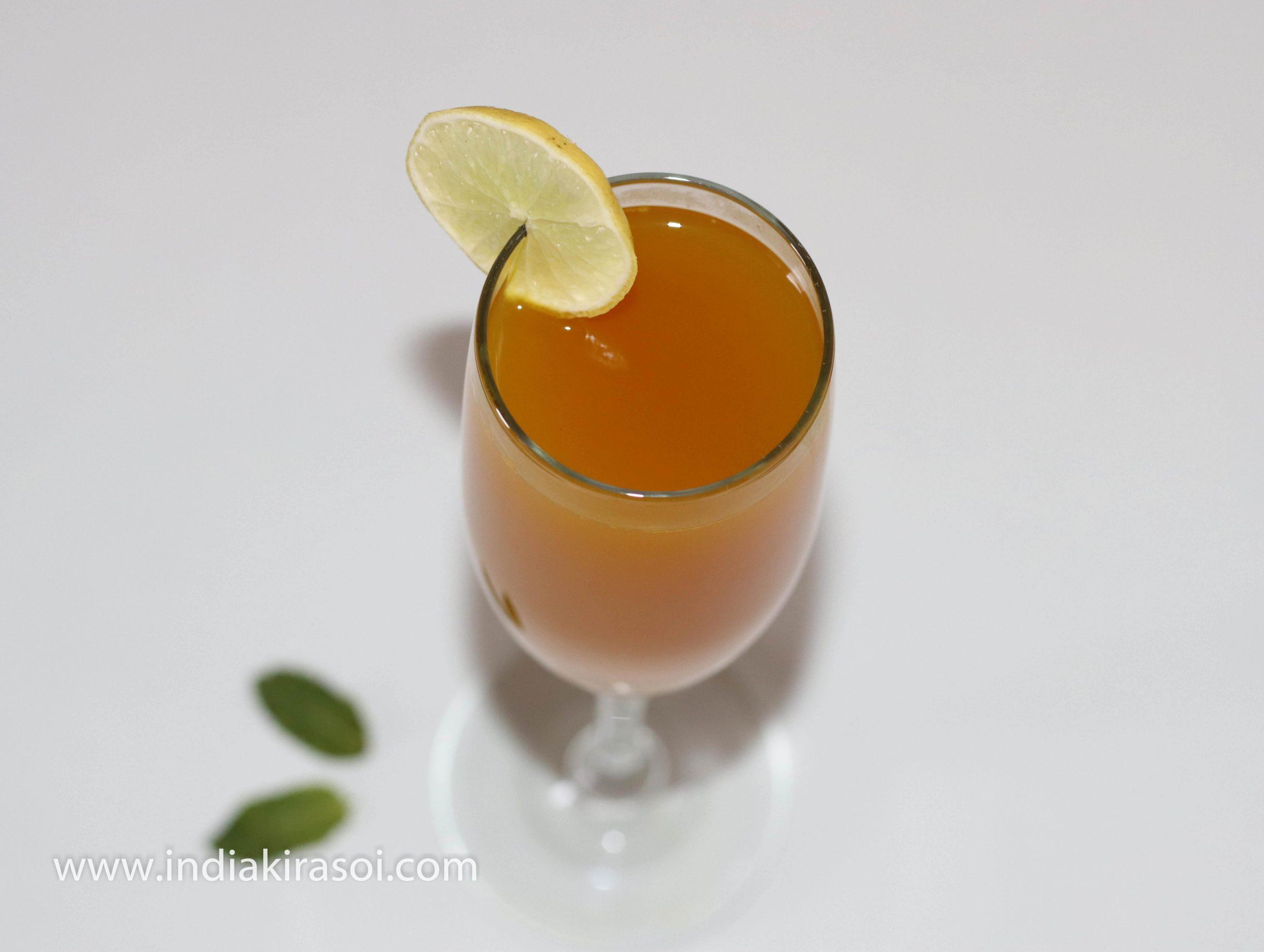 Turmeric ginger cumin water/ Haldi adrak jeera pani is ready.