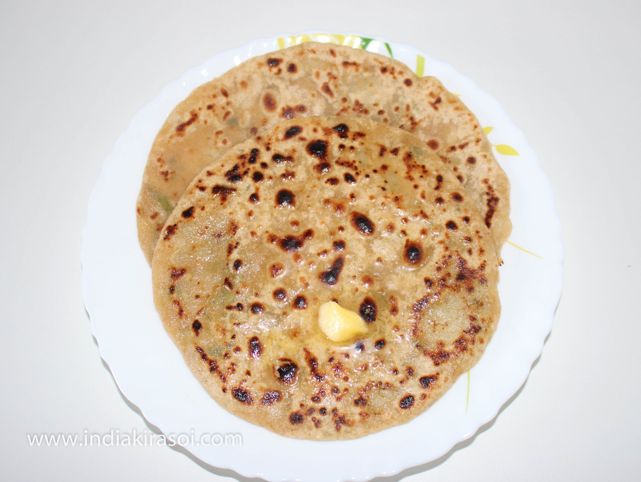 Now flatbread/ paratha is ready, You can serve it with green chutney or curd and pickle.